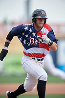 Quad Cities River Bandits left fielder Seth Beer (35) scores on a passed ball during a game against the West Michigan Whitecaps on July 23, 2018 at Modern Woodmen Park in Davenport, Iowa.  Quad Cities defeated West Michigan 7-4.  (Mike Janes/Four Seam Images)