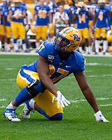 Pitt defensive lineman Habakkuk Baldonado. The Pitt Panthers defeated the UCF Knights 35-34 in a football game played at Heinz Field, Pittsburgh, Pennsylvania on September 21, 2019.