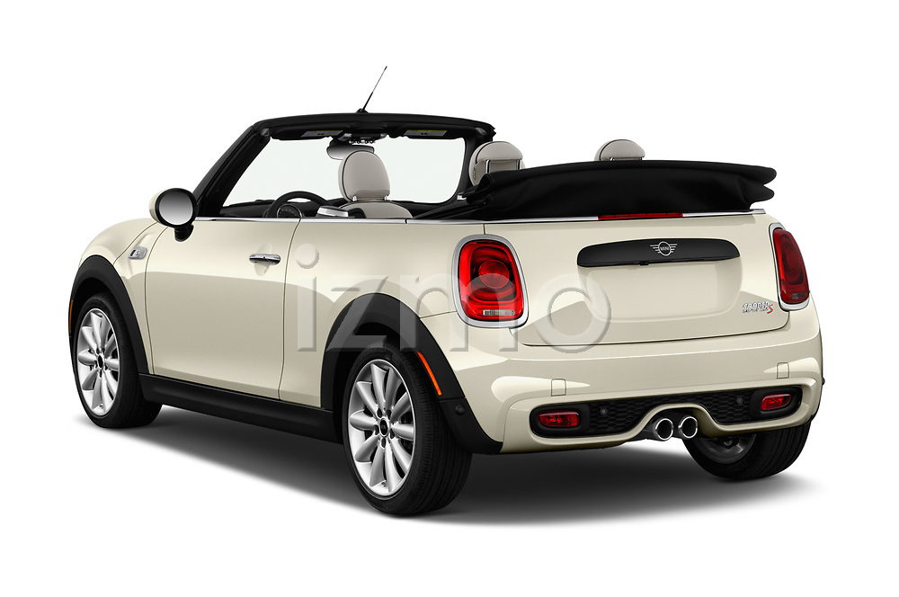 Car pictures of rear three quarter view of a 2019 Mini Cooper S Signature 2 Door Convertible angular rear