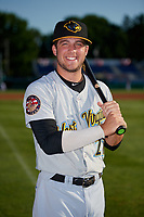 West Virginia Black Bears Cory Wood (27) poses for a photo before a NY-Penn League game against the Batavia Muckdogs on June 26, 2019 at Dwyer Stadium in Batavia, New York.  Batavia defeated West Virginia 4-2.  (Mike Janes/Four Seam Images)