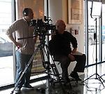 "Dan ""Dano"" Steinhardt of Epson & cameraman at the Art Wolfe Gallery."