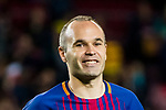 Andres Iniesta Lujan of FC Barcelona reacts after the La Liga 2017-18 match between FC Barcelona and Real Madrid at Camp Nou on May 06 2018 in Barcelona, Spain. Photo by Vicens Gimenez / Power Sport Images