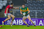 Sean Meehan, Cork,  in action against Seán O'Shea, Kerry during the Munster GAA Football Senior Championship Semi-Final match between Cork and Kerry at Páirc Uí Chaoimh in Cork.