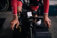 Toms Skujins (LAT/Trek Segafredo) warming up<br /> <br /> UCI MEN'S TEAM TIME TRIAL<br /> Ötztal to Innsbruck: 62.8 km<br /> <br /> UCI 2018 Road World Championships<br /> Innsbruck - Tirol / Austria