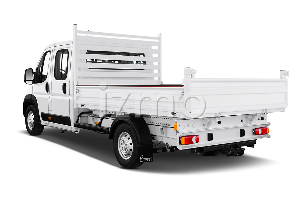 Car pictures of rear three quarter view of 2019 Peugeot Boxer PRO-SR 4 Door Chassis Cab Angular Rear
