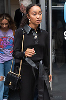 LONDON, UNITED KINGDOM - 2020/09/08: Jade Thirlwall, Leigh-Anne Pinnock of Little Mix departs the Global Radio Studios in London. <br /> CAP/JOR<br /> ©JOR/Capital Pictures