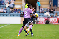 25th September 2021; Kilmac Stadium, Dundee, Scotland: Scottish Premiership football, Dundee versus Rangers; Calvin Bassey of Rangers challenges for the ball with Cammy Kerr of Dundee