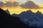 coucher du soleil depuis le refuge Bordier.