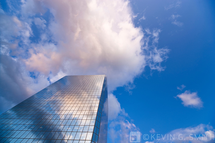 Photo of the Atwood Tower, wide angle lens looking up, Southcentral Alaska, USA.