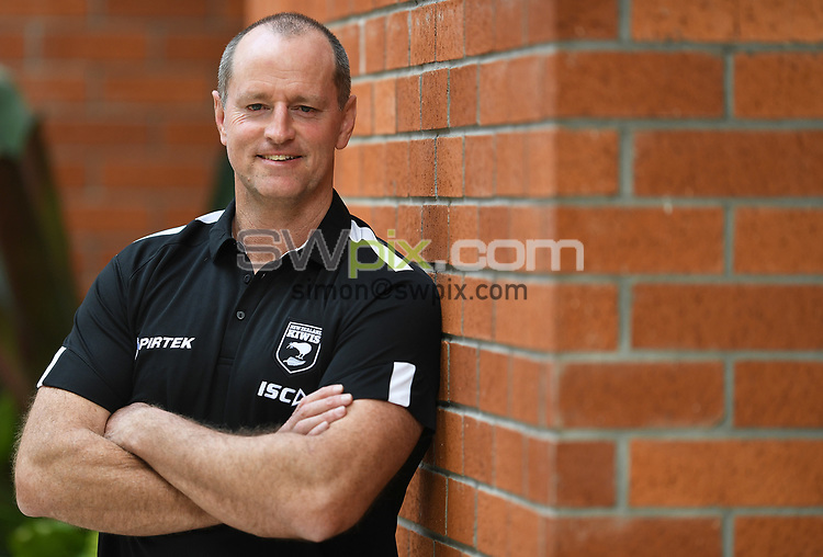 Kiwis coach Michael Maguire poses for a photo after a press conference ahead of the upcoming test match against the Australian Kangaroos this weekend. Pullman Hotel, Auckland, New Zealand. Tuesday 9 October 2018. © Copyright photo: Andrew Cornaga / www.photosport.nz
