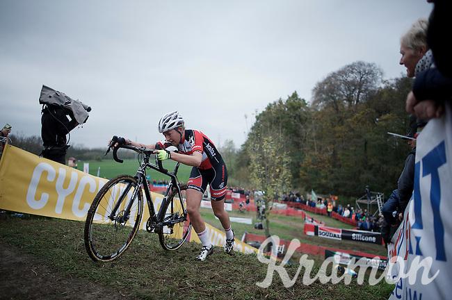 Sophie de Boer (NLD/Kalas-NNOF)<br /> <br /> Jaarmarktcross Niel 2015  Elite Women's Race