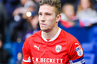 Barnsley's defender Angus MacDonald (5) during the Sky Bet Championship match between Sheff Wednesday and Barnsley at Hillsborough, Sheffield, England on 28 October 2017. Photo by Stephen Buckley / PRiME Media Images.