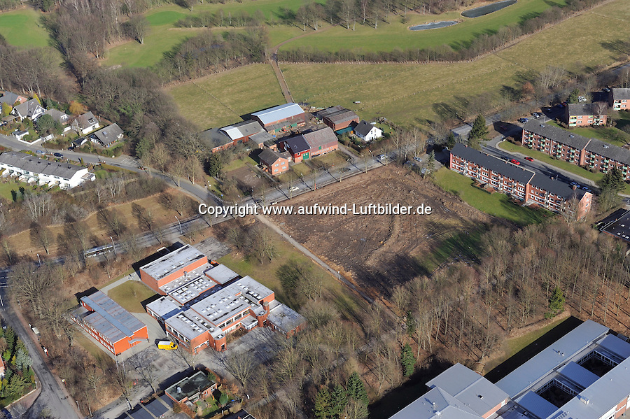 Schulwaeldchen in Wentorf bei Reinbek: EUROPA, DEUTSCHLAND, SCHLESWIG- HOLSTEIN, WENTORF, REINBEK (EUROPE, GERMANY), 20.02.2012:Schulwaeldchen in Wentorf bei Reinbek