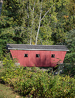 Small covered bridge, Kent Falls State Park, Kent, Connecticut, USA
