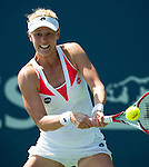 Alison Riske (USA) during her quarterfinal match against Elina Svitolina (UKR) at the Bank of the West Classic in Stanford, CA on August 7, 2015. Riske fell to Svitolina by 46 75 61.