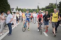 race winner Jasper de Buyst (BEL/Lotto-Soudal) escorted back to the podium<br /> <br /> 10th Heistse Pijl 2017