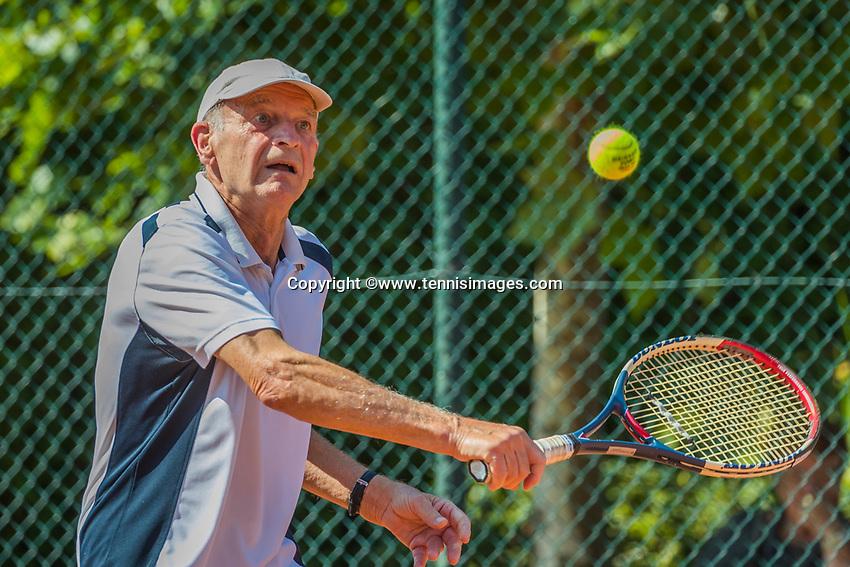 Etten-Leur, The Netherlands, August 27, 2017,  TC Etten, NVK, Theo de Waal (NED) runner up 80+ <br /> Photo: Tennisimages/Henk Koster