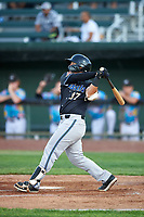 Missoula Osprey Tristen Carranza (37) at bat during a Pioneer League game against the Idaho Falls Chukars at Melaleuca Field on August 20, 2019 in Idaho Falls, Idaho. Idaho Falls defeated Missoula 6-3. (Zachary Lucy/Four Seam Images)