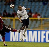 Ricardo Clark heads the ball, USA 1-0 over Trinidad at Hasely Crawford Stadium, Port of Spain, Trinidad, Wednesday, Sept. 9, 2009. ..   .
