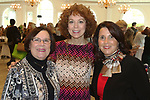 SOUTHINGTON  CT. - 29 October 2019-10229SV08- From left, Ginny O'Rourke of Wolcott,  Donna Palomba of Woodbury and Lynn Ward President & CEO of the Waterbury Regional Chamber attend the Waterbury Chamber annual Business Women's Forum in Southington Tuesday.<br />  Steven Valenti Republican-American