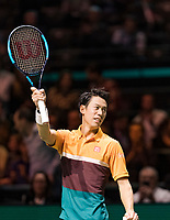 Rotterdam, The Netherlands, 14 Februari 2019, ABNAMRO World Tennis Tournament, Ahoy, Kei Nishikori (JPN)<br /> Photo: www.tennisimages.com/Henk Koster