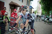Austrian champion Riccardo Zoidl (AUT/Trek Factory Racing) at the start<br /> <br /> 2014 Giro d'Italia <br /> stage 17: Sarnonico - Vittori Veneto (208km)