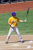 LSU Tigers shortstop Alex Bregman (8) at bat during the NCAA College baseball World Series against the Cal State Fullerton on June 16, 2015 at TD Ameritrade Park in Omaha, Nebraska. LSU defeated Fullerton 5-3. (Andrew Woolley/Four Seam Images)