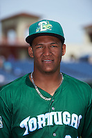 Daytona Tortugas pitcher Keury Mella (34) poses for a photo before a game against the Clearwater Threshers on April 20, 2016 at Bright House Field in Clearwater, Florida.  Clearwater defeated Daytona 4-2.  (Mike Janes/Four Seam Images)