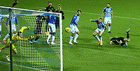 2nd February 2021; Rugby Park, Kilmarnock, East Ayrshire, Scotland; Scottish Premiership Football, Kilmarnock versus Celtic; Scott Brown of Celtic wins the header and makes it 1-0 to Celtic in the 29th minute