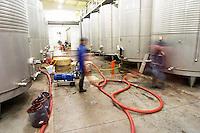 Pumping over. Fermentation tanks. Quinta do Carmo, Estremoz, Alentejo, Portugal
