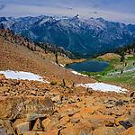 Diamond Lake, Sawtooth Peak, Trinity Alps Wilderness, Shasta-Trinity National Forest, California