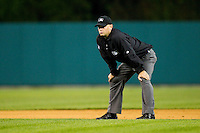 Second base umpire Scott Barry looks on during the Major League Baseball game between the Tampa Bay Rays and the Detroit Tigers at Comerica Park on June 4, 2013 in Detroit, Michigan.  The Tigers defeated the Rays 10-1.  Brian Westerholt/Four Seam Images