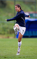 Shannon Boxx. The USWNT defeated Denmark, 2-0, in Lagos, Portugal during the Algarve Cup.