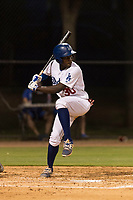 AZL Dodgers first baseman Sauryn Lao (30) at bat during an Arizona League game against the AZL Angels at Camelback Ranch on July 8, 2018 in Glendale, Arizona. The AZL Dodgers defeated the AZL Angels by a score of 5-3. (Zachary Lucy/Four Seam Images)