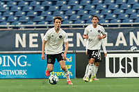 FOXBOROUGH, UNITED STATES - MAY 28: Harvey Neville #6 of Fort Lauderdale CF brings the ball forward during a game between Fort Lauderdale CF and New England Revolution II at Gillette Stadium on May 28, 2021 in Foxborough, Massachusetts.