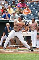 Matt Thaiss (21) of the Virginia Cavaliers bats during a game between the Virginia Cavaliers and Arkansas Razorbacks at TD Ameritrade Park on June 13, 2015 in Omaha, Nebraska. (Brace Hemmelgarn/Four Seam Images)
