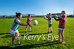 EKL Gaels U12 ladies return to training in Keel on Monday evening. L to r: Eilish Tagney, Ellen Almond, Seoladh Flynn and Lan O'Connor.