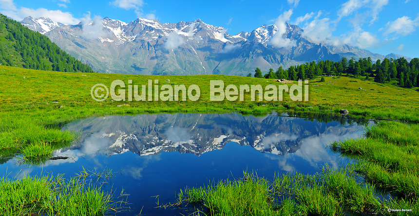 Stitched Panorama alpine landscape paesaggi di montagna alps alpi boschi foreste laghi montagne lakes glaciers forest trentino dolomiti