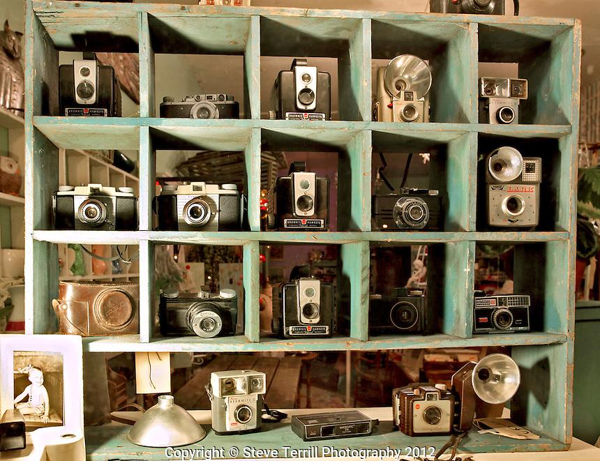 Camera display in window in Portland Oregon