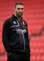 Lincoln City's first team coach Jamie McCombe during the pre-match warm-up<br /> <br /> Photographer Chris Vaughan/CameraSport<br /> <br /> EFL Leasing.com Trophy - Northern Section - Group H - Doncaster Rovers v Lincoln City - Tuesday 3rd September 2019 - Keepmoat Stadium - Doncaster<br />  <br /> World Copyright © 2018 CameraSport. All rights reserved. 43 Linden Ave. Countesthorpe. Leicester. England. LE8 5PG - Tel: +44 (0) 116 277 4147 - admin@camerasport.com - www.camerasport.com