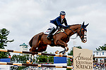 October 17, 2021: Zara Tindall (GBR), aboard Class Affair, competes during the Stadium Jumping Final at the 5* level  during the Maryland Five-Star at the Fair Hill Special Event Zone in Fair Hill, Maryland on October 17, 2021. Jon Durr/Eclipse Sportswire/CSM