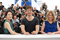 Zhang Ziyi ; Thomas Vinterberg ; Ludivine Sagnier..Cannes 16/5/2013 ..Festival del Cinema ..foto Panoramic / Insidefoto ..ITALY ONLY
