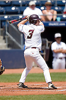 Mike Sudol #3 of the Boston College Eagles at bat versus the Georgia Tech Yellow Jackets at Durham Bulls Athletic Park May 21, 2009 in Durham, North Carolina.  (Photo by Brian Westerholt / Four Seam Images)