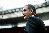 Manager of Swansea City, Paul Clement inspects the stadium ahead of the Premier League match between Arsenal and Swansea City at Emirates stadium, London, England, UK. Saturday 28 October 2017