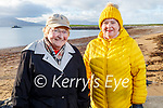 Maureen O'Sullivan and Nora O'Mahoney enjoying the day on Fenit beach on New Years Day.