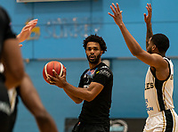 Connor Cashaw of Surrey Scorchers during the BBL Championship match between Surrey Scorchers and Newcastle Eagles at Surrey Sports Park, Guildford, England on 20 March 2021. Photo by Liam McAvoy.