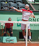 Adrian Unger loses at Roland Garros in Paris, France on May 30, 2012