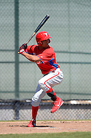 Philadelphia Phillies outfielder Jiandido Tromp (53) during a minor league Spring Training game against the New York Yankees at Carpenter Complex on March 21, 2013 in Clearwater, Florida.  (Mike Janes/Four Seam Images)