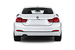 Straight rear view of a 2018 BMW 4 Series Gran Coupe 430i 5 Door Hatchback stock images
