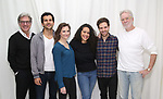 """Matt Williams, Gabriel Sloyer, Mairin Lee, Keren Lugo, Ben Rappaport and John Pasquin attends the cast photocall for the Worls Premiere of """"Actually, We're F**ked"""" at TheaterLab on January 29, 2019 in New York City."""